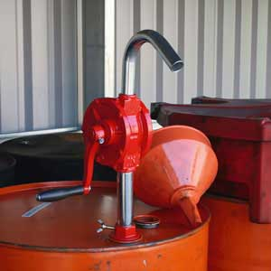 TP54 In use with oil drum