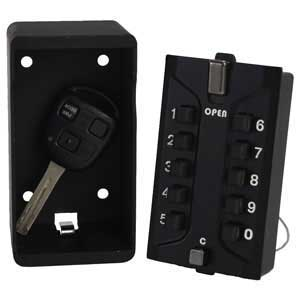 Car key in key safe