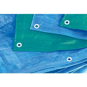 Tarpaulin available in green or blue