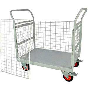 4 Sided Mailroom Trolley