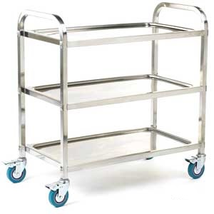 3 Tier Stainless Steel Shelf Trolley