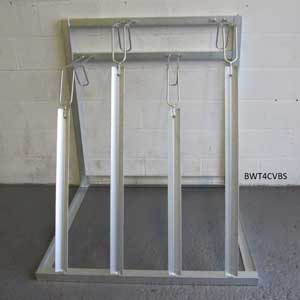 Vertical Storage Rack - Front View For 4 Bikes