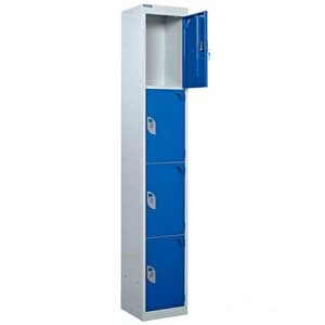 4 Compartment Locker - Open