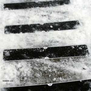 Flat stair treads in the snow