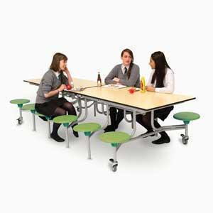 12 Seat Rectangular Mobile Folding Table Units