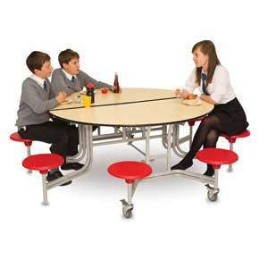 8 Seat Round Mobile Folding Table Units