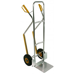 Heavy Duty Sack Trucks manufactured from welded aluminium tube