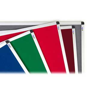 Available Felt Colours for Tamperproof Noticeboards