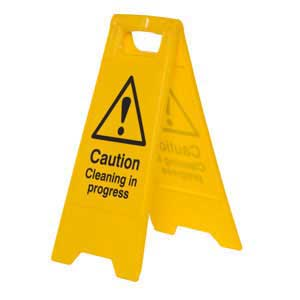 Caution Cleaning in progress A-Board floor sign stand