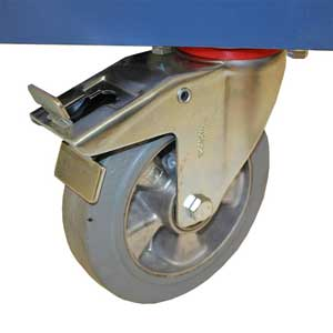 E381605 is fitted with two fixed and two swivel braked castors
