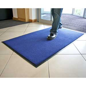 Entra Plush Entrance Mat - Blue