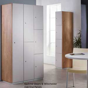 Executive Lockers Kashmir Doors & Oak End Panels
