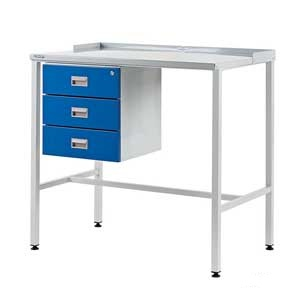 Flat Top Industrial Workstation With Triple Drawer