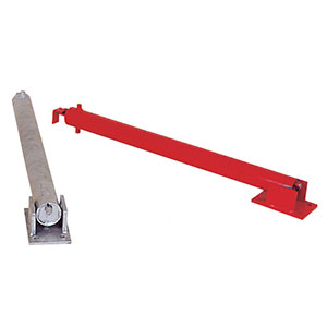 Galvanised and Red Padlock Folding Parking Posts