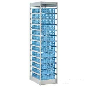 Medical Storage System - 400mm Wide with 13 Baskets