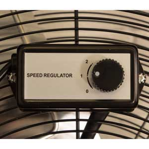 "Speed Regulator Fitted To Each 30"" Industrial Drum Fan"