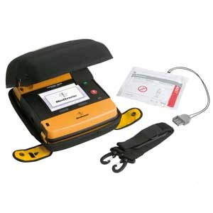 Lifepak 1000 Defibrillator With Carry Case and Edge System Electrodes