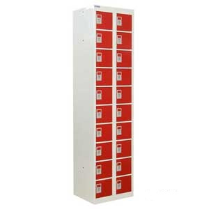 Tall Personal Effects Lockers - 20 Compartment