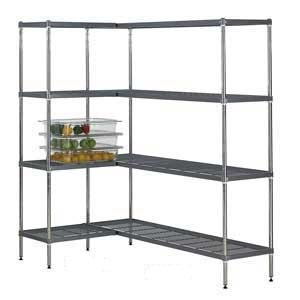 Airdeck Nylon Wire Shelving Bays with 4 Shelves