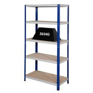 Clicka 265 Steel Shelving Bays With 5 MDF Shelves