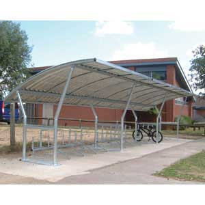 Cambridge Cycle Shelter with 2 Extensions