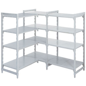 Polypropylene Shelving 400 deep 4x Solid Shelves