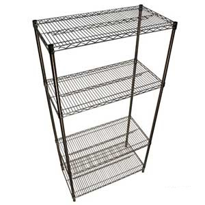 Stainless Steel Wire Shelving With 4 Shelves
