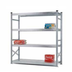 Supershelf Galvanised Steel Shelving Bays With Zinc Finish - 4 Shelves, 1800mm Wide