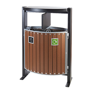 Walnut External Litter Bin