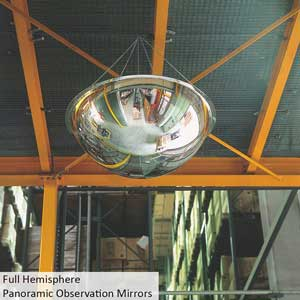 Full Hemisphere Panoramic Observation Mirror