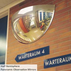 Half Hemisphere Panoramic Observation Mirror