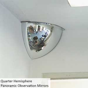 Quarter Hemisphere Panoramic Observation Mirror
