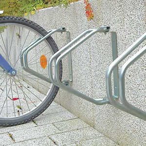 Close-up of bike rack