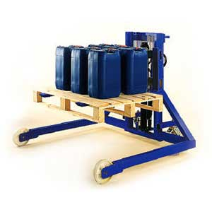Wide Straddle Legs Pallet Stacker
