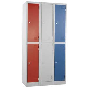 Group of 3 Express Atlas 2 door lockers