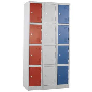 Group of 3 Express Atlas 4 door lockers