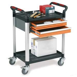 WHTT2SS/D2 2 Shelf Trolley with 2 Drawers