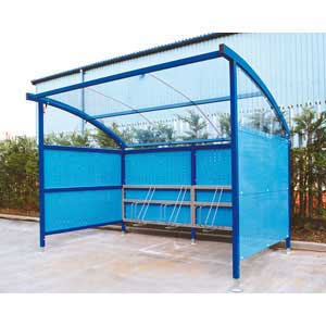 Polycarbonate Roof and decorative side panels