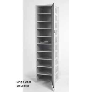 Single Door, 10 Socket Laptop Charging Lockers
