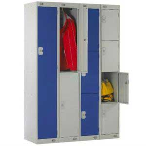 Nested Fastrack Lockers - Blue & Grey