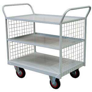 3 Tier Shelf Trolley with Mesh Ends