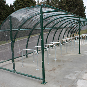 Run of Stratford Cycle Shelters
