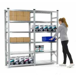 Starter and Extension Bay of Supershelf Shortspan Shelving