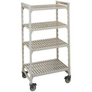 Polypropylene Shelving on Castors