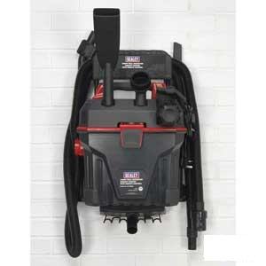 Sealey Garage Vacuum Complete On Wall Rack