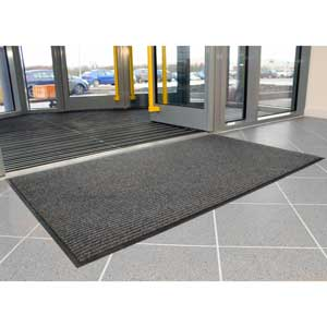 Grey Tough Rib Entrance Mat
