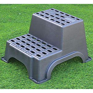 Heavy Duty Plastic Safety Double Step