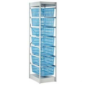 Medical Storage System - 400mm Wide with 7 Baskets