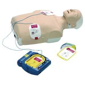 HeartStart HS1 AED Trainer In Use