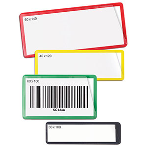 Colour options for Magnetic Label Pouches